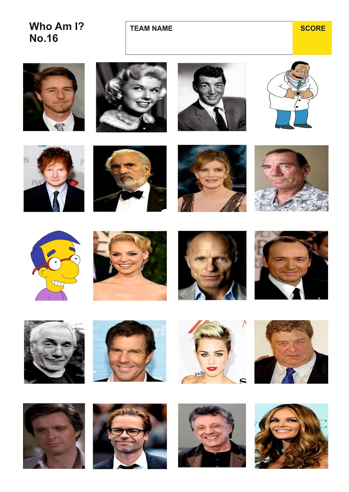 Celebrity Picture Quiz Questions And Answers - Quiz