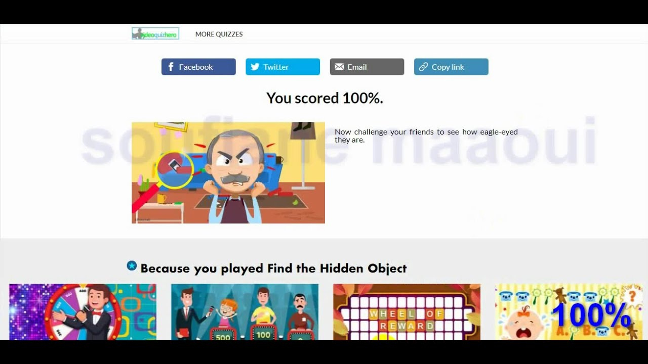Find The Hidden Object Quiz Answers 100% - Youtube