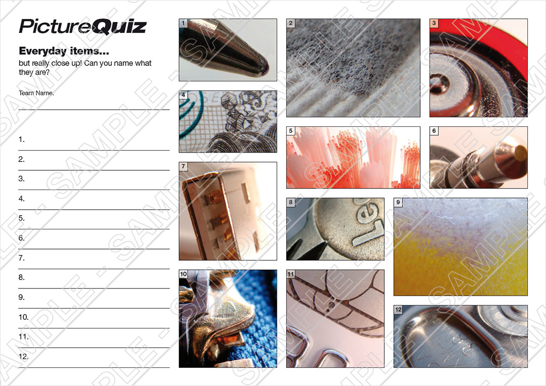 Quiz Number 028 With Extreme Closeups Picture Round
