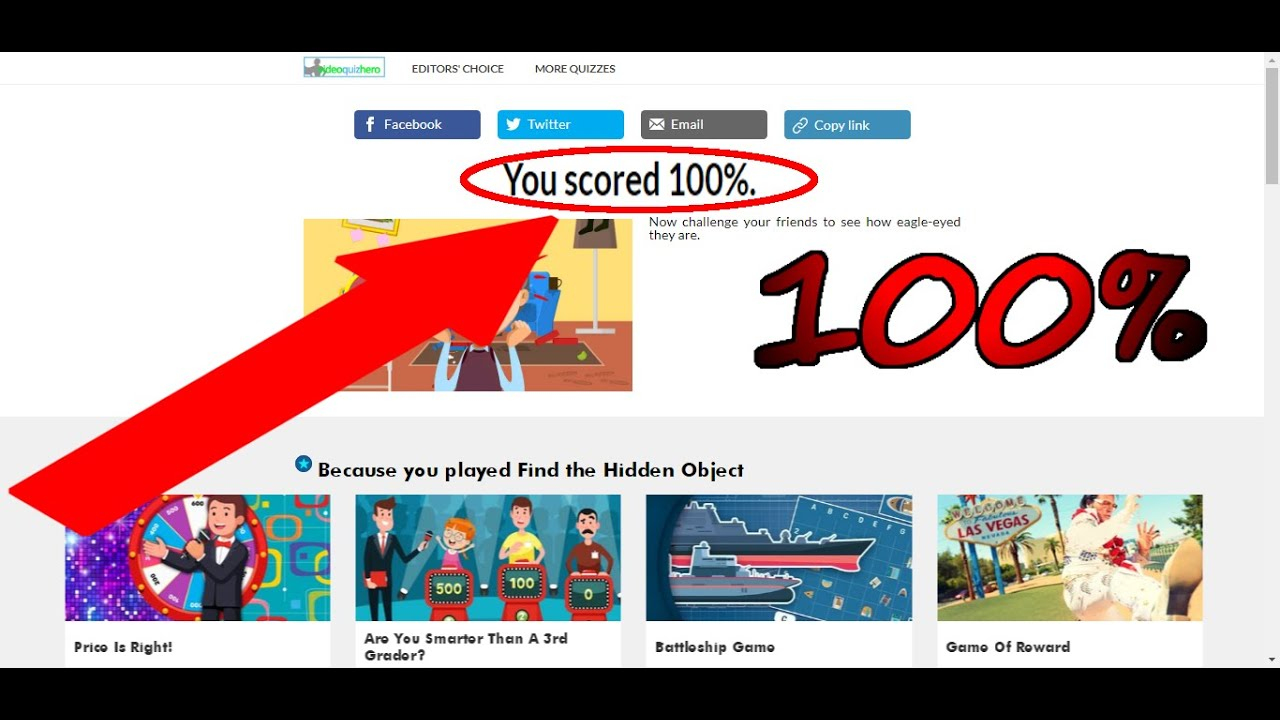 Videoquizhero - Find The Hidden Object Quiz Answers
