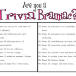 Easy Trivia Questions And Answers Printable